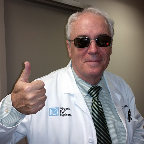 Dr Paul Bullock Ophamologist Virginia Eye Institute Polarized Oakley Sunglasses from Carytown Optical